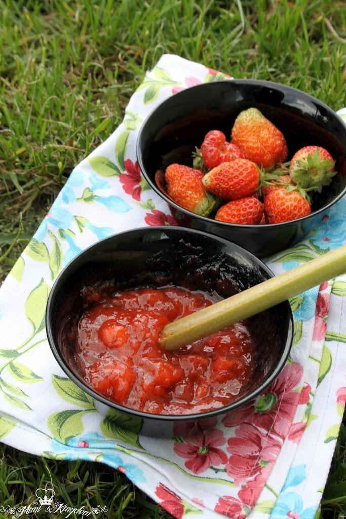 Džem od jagoda i rabarbare 1