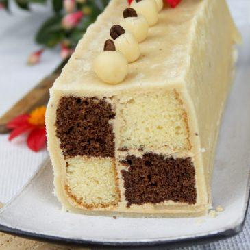 Coffee Battenberg cake – Daring Bakers Challenge, June 2012.