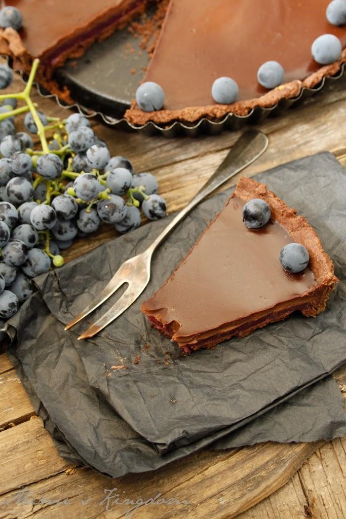 čokoladni tart sa grožđem 1