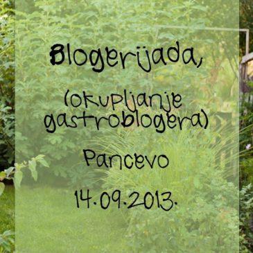 Vreme je za septembarsku blogerijadu! :)