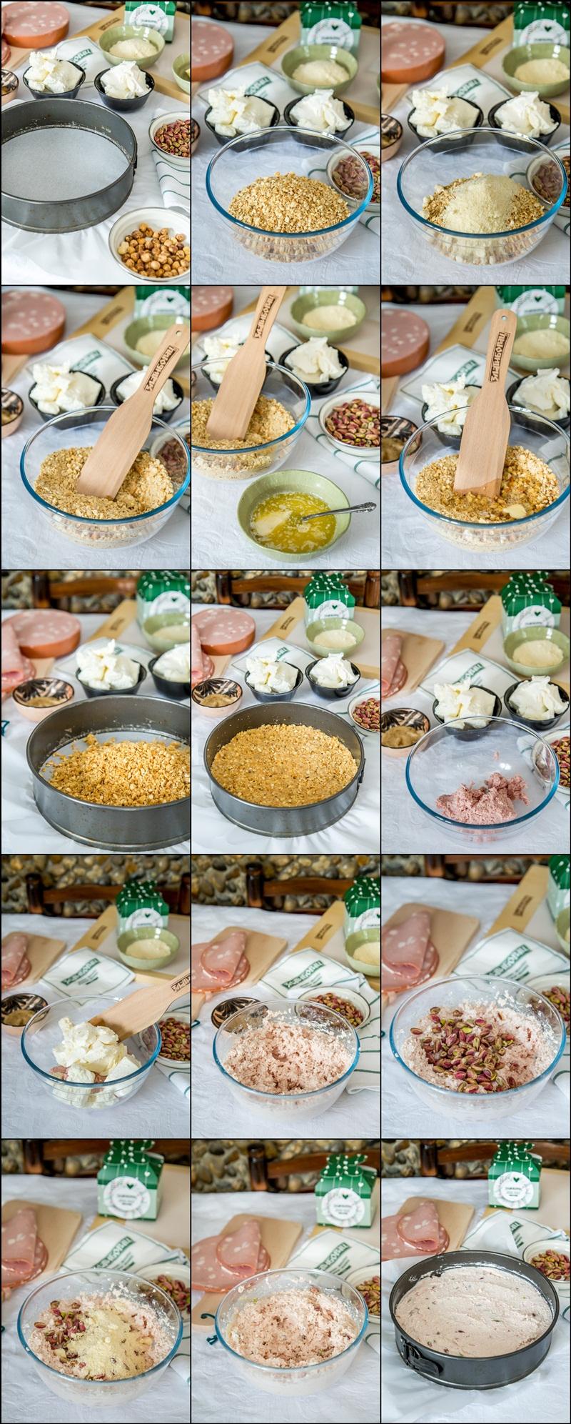 postupak izrade slane torte sa mortadelom