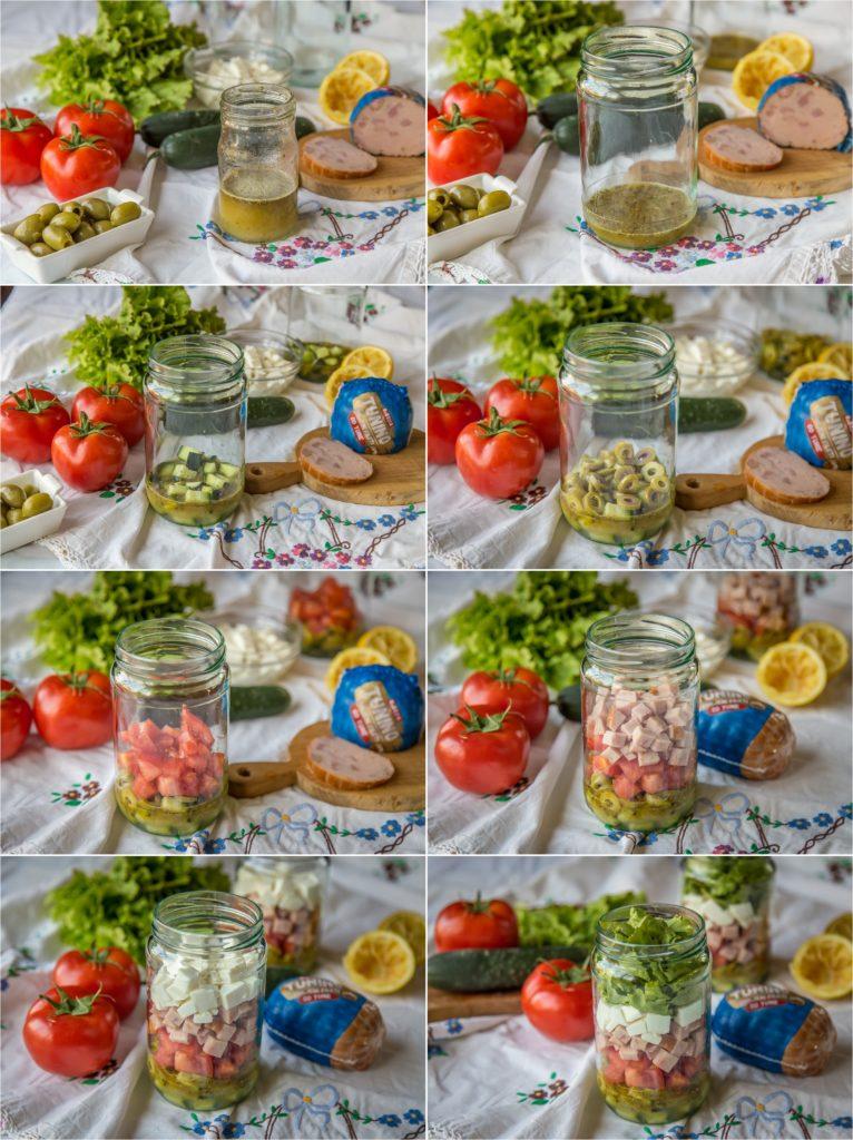 Tunino piknik salata postupak izrade i redjanja u teglu