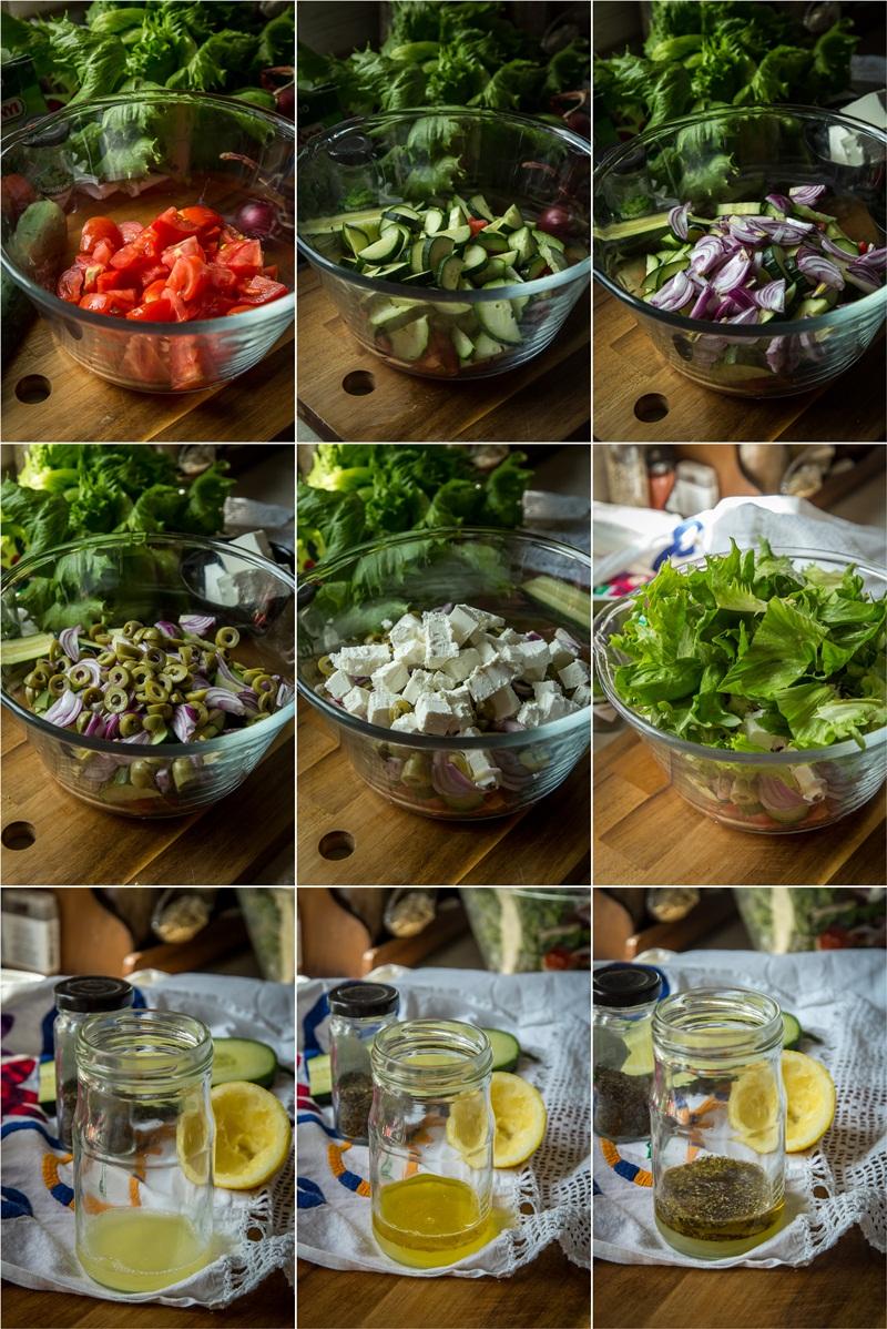 Koraci pripreme grčke salate i preliva