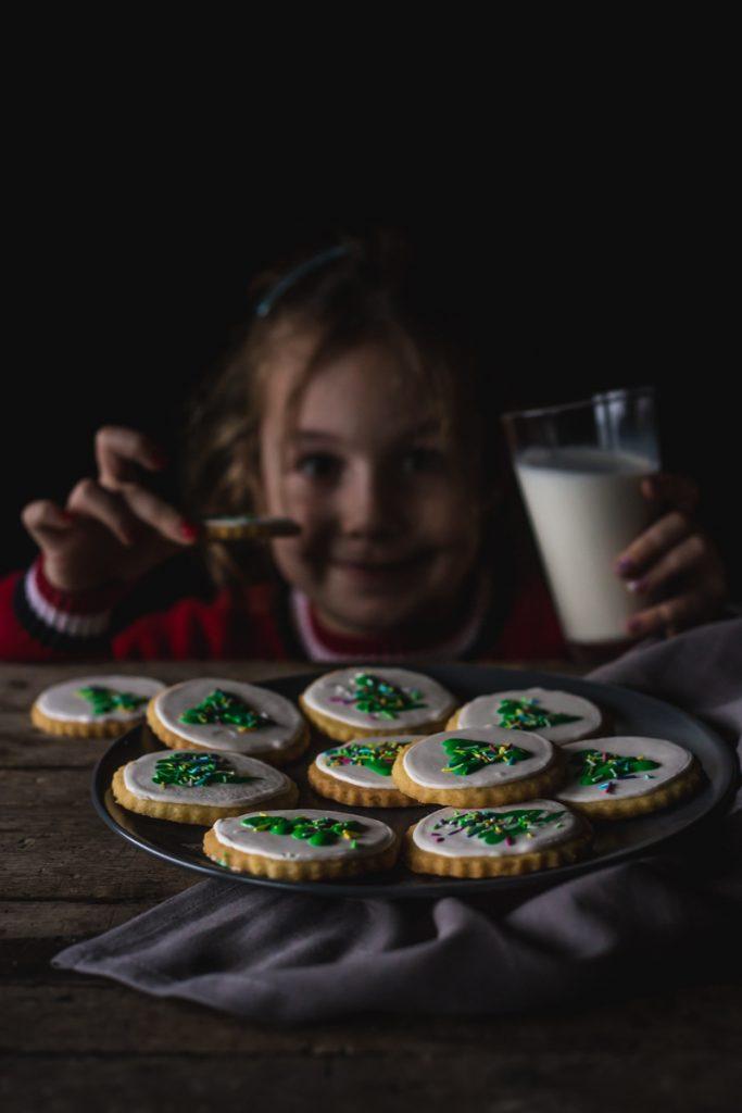 Novogodišnji keksići sa jelkom i ukusom vanile