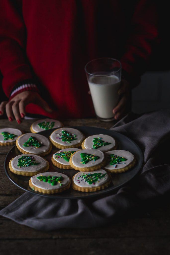 Božićni vanil keksi sa jelkom