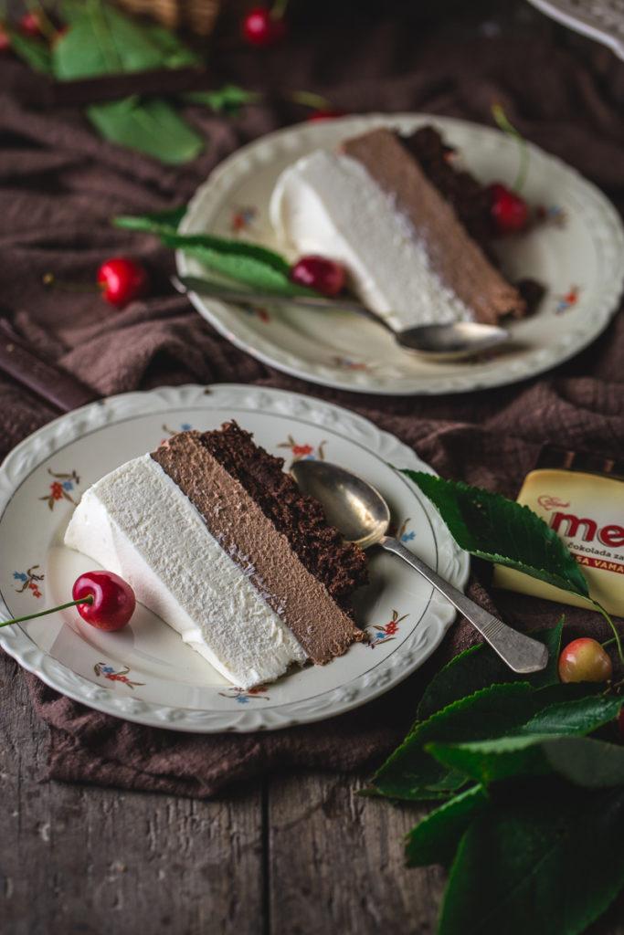 Mus torta sa tri vrste čokolade