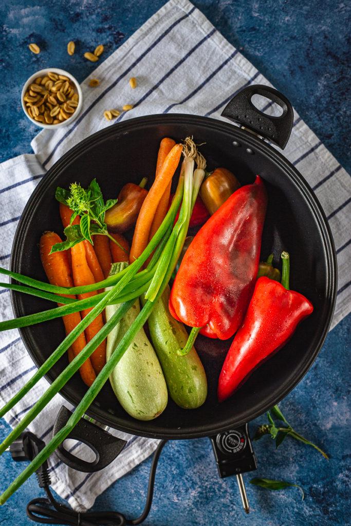 povrće u električnom voku