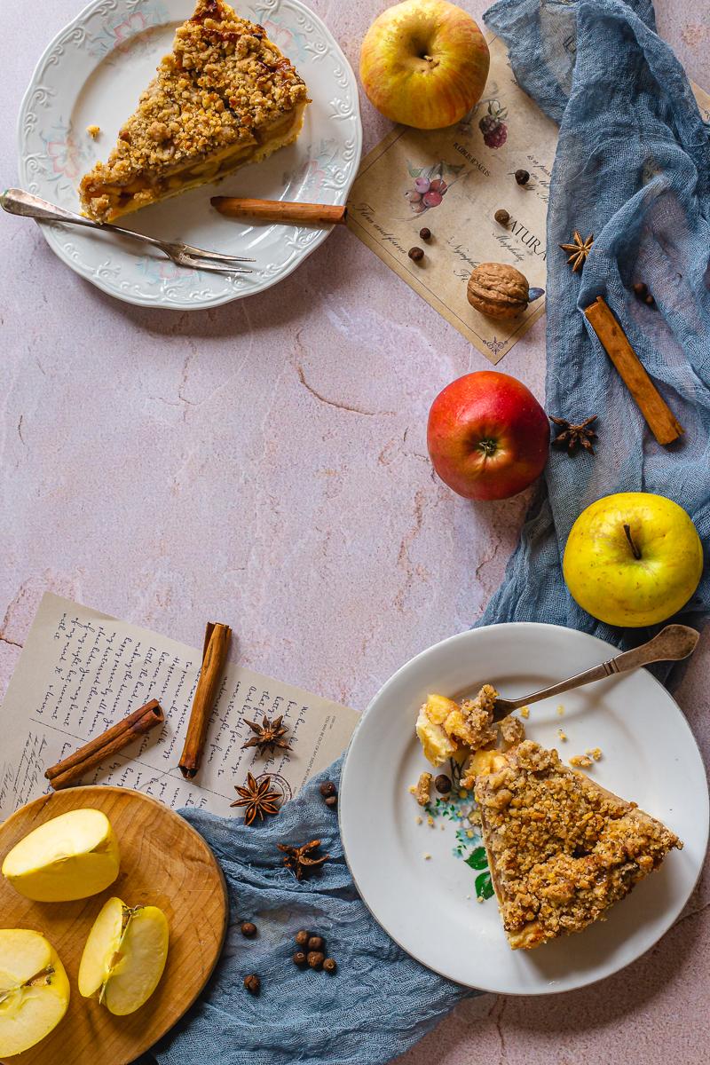 pogled odozgo holandska pita sa jabukama