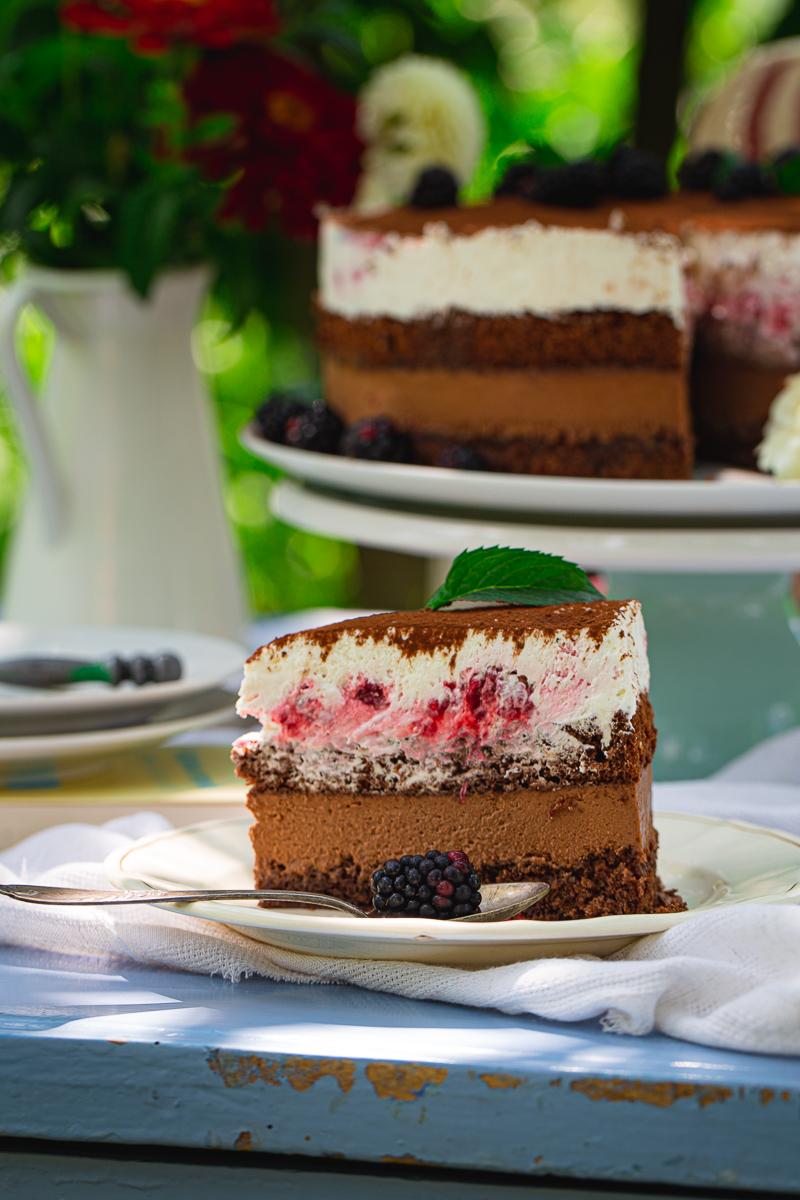 Mus torta parče na tanjiru