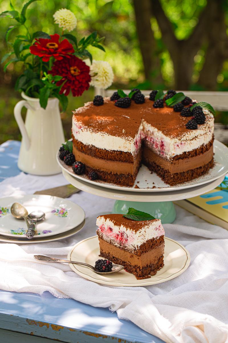 Mus torta sa čokoladom i malinama