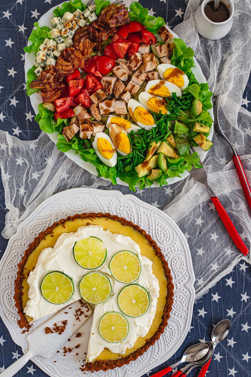 Ručak KOb salata i Pita od limete