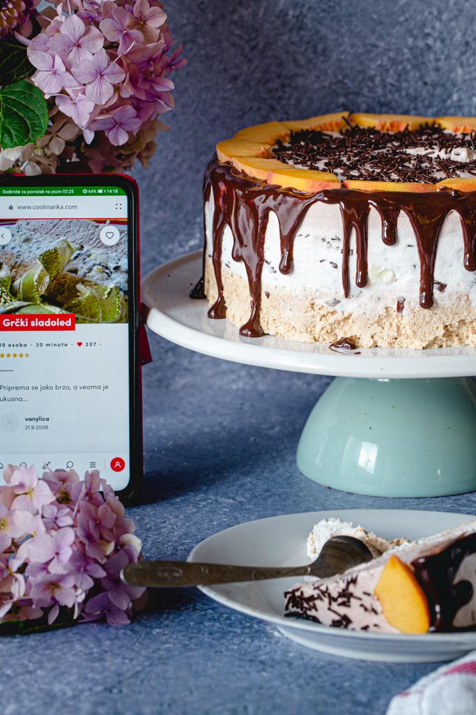 Torta grčki sladoled i aplikacija